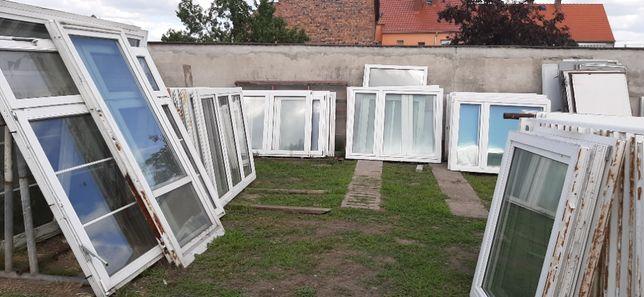 Okna używane. Duży wybór, różne wymiary. Oraz nowe drzwi wejściowe.