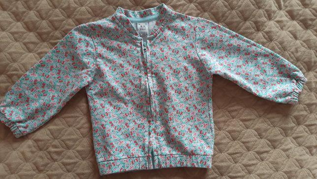 Hiszpańska bluza zapinana na suwaczek, r 80-86