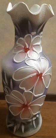 Напольная ваза Белая 60см.