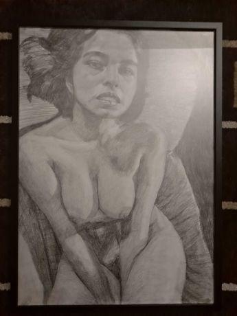 Rysunek akt kobieta