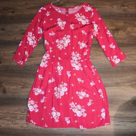 Sukienka w kwiaty H&M rozmiar M