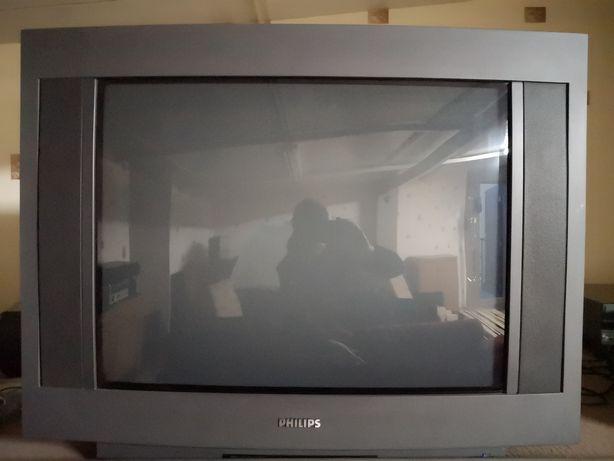 TV PHILIPS telewizor kineskopowy 28 cali pilot duzy