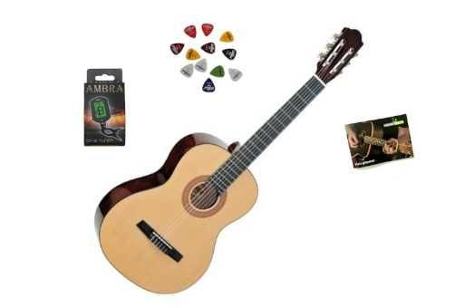 Gitara Klasyczna Ambra AC-02 + Stroik + Darmowa Wysyłka