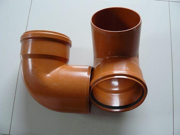 kolano kanalizacyjne wzmocnione pomarańczowe 160mm x 45 stopni