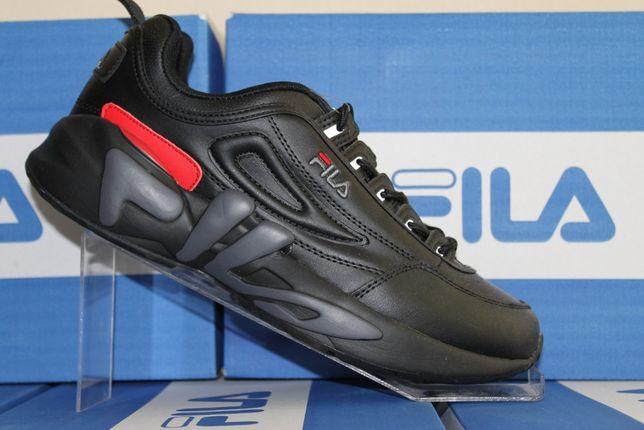 Шикарные дeмиceзoнные кожаные кроссовки Fila (618чер.)