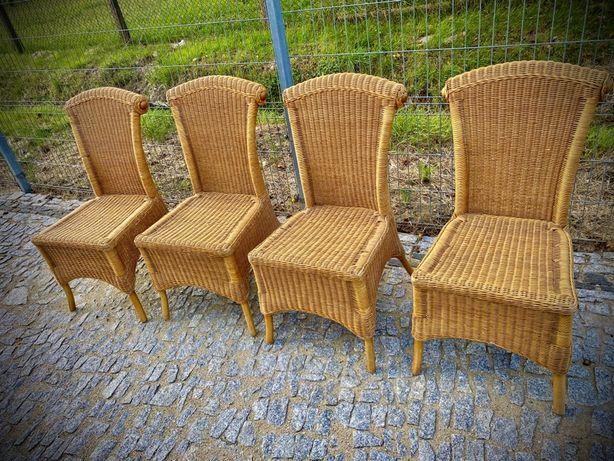 Krzesla ratanowe 4sztuki