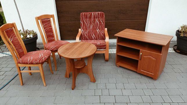 Komplet mebli krzesła fotel stolik szafka pod telewizor