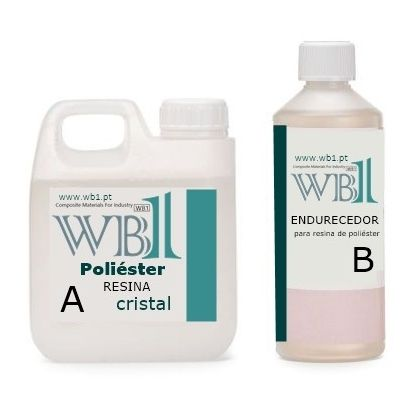 1Kg Resina de Poliéster (transparente)