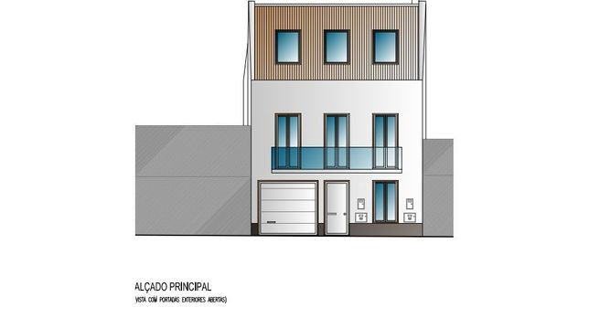 Projeto de moradia V3 com garagem no centro de Santo António