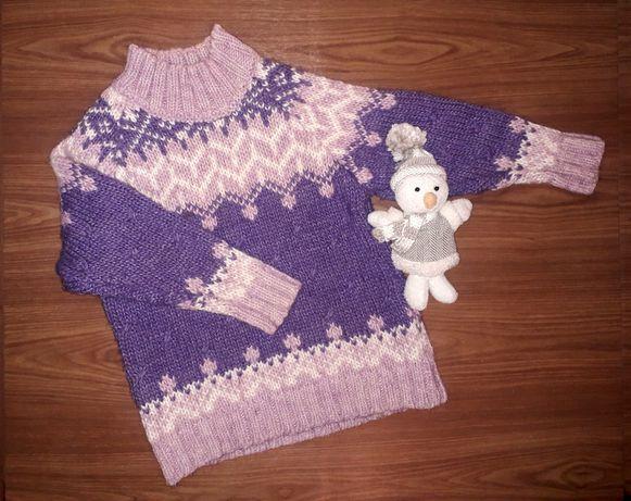 Кофта шерсть свитер реглан туника светр
