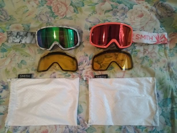 Женская сноубордическая горнолыжная маска Smith RIOT + 2 сменные линзы