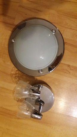 Lampa i kinkiet na dwie źarówki