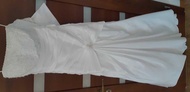 Kiecka ślubna, suknia r. 36