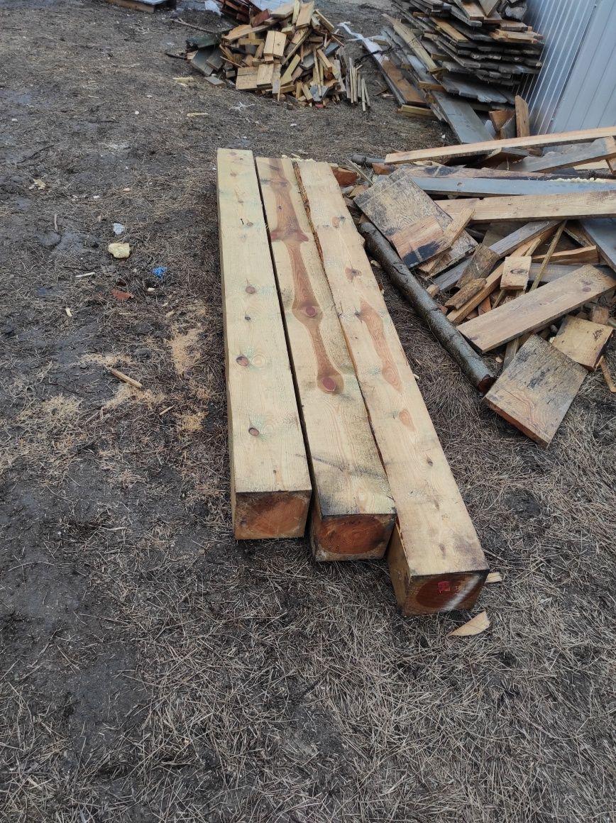 2 belki drewniane 20x20x255 cm