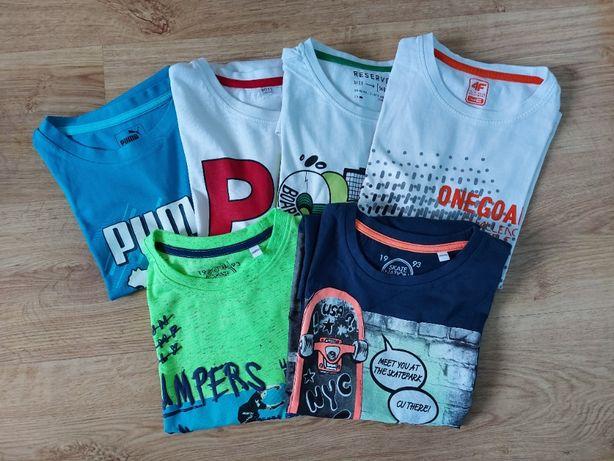 Koszulki chłopięce na krótki rękaw. Rozmiar 146/152