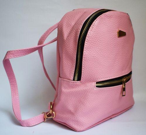 Мини рюкзак розовый для девочки из эко кожи