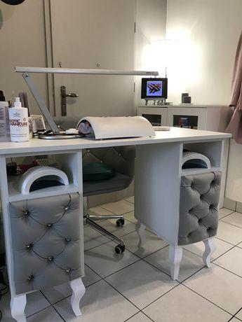 Biurko kosmetyczne do manicure pikowane + montaż pochłaniacza