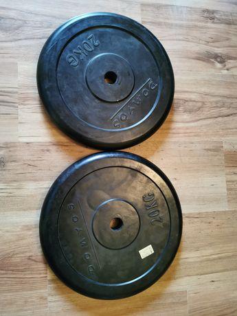 Domyos obciążenie żeliwne w gumie 2x20kg