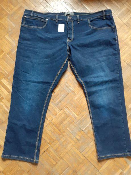 Spodnie męskie 52-54 firmowe xxxl duży rozmiar dżinsy dżinsowe slim