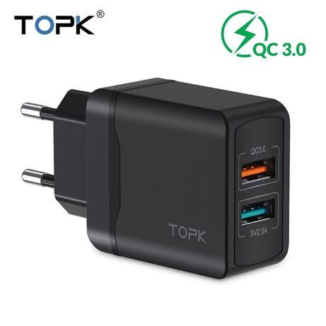 Быстрая зарядка TOPK B244Q Quick Charge Qualcomm 3.0 28W 3A