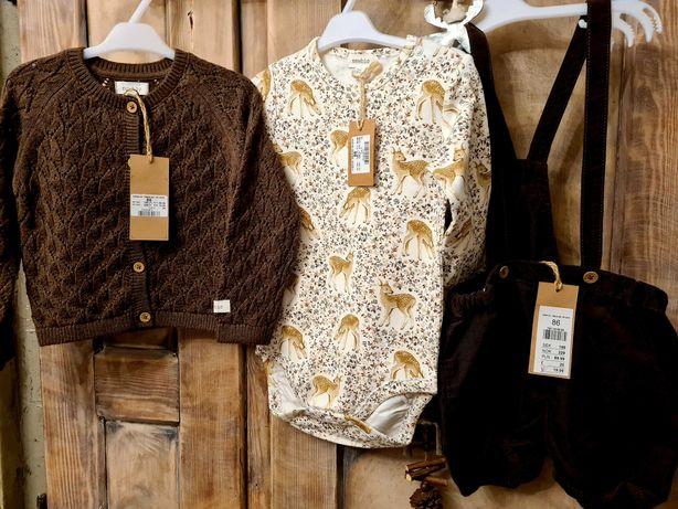 Newbie sweterek 86 body86 sarenki spodenki 86 nowe z metkami