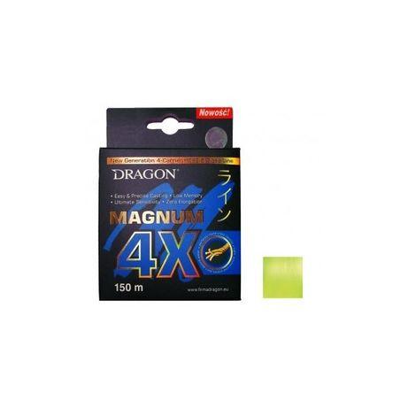 Plecionka Dragon Magnum 4X Żółta Fluo 150m 0.25mm
