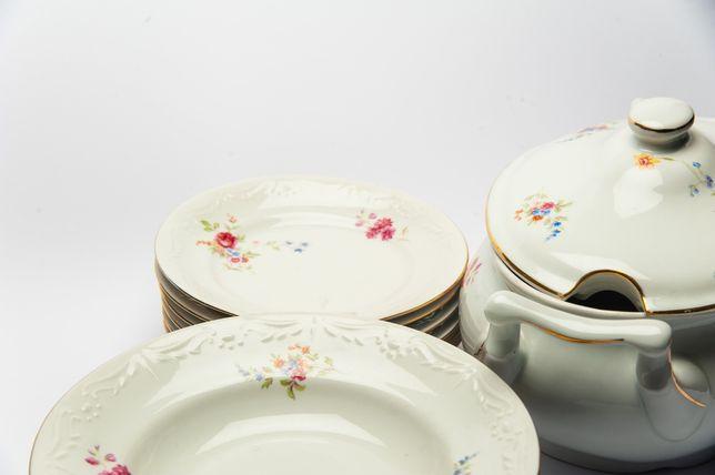 Zestaw porcelany Jarocin PRL vintage retro