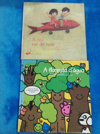 """Livros infantis """" A fita cor de rosa """" e """" A floresta d'água """""""