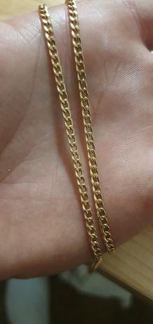 Pancerka złoty łańcuszek 14k 585