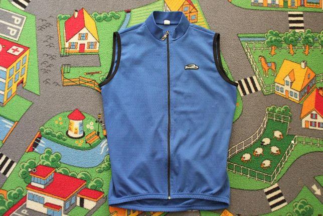Koszulka na rower Biemme ciemnoniebieska rozmiar L, bez rękawów