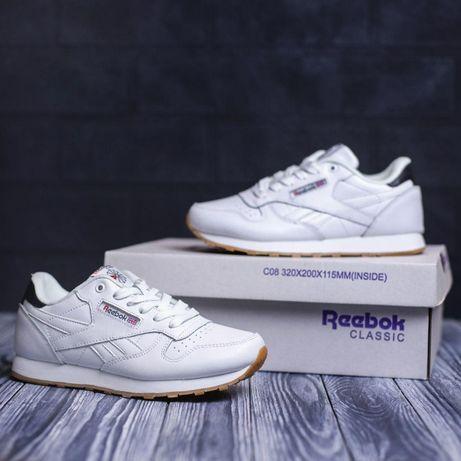 4124 Reebok classic белые кроссовки женские рибок класик кросовки