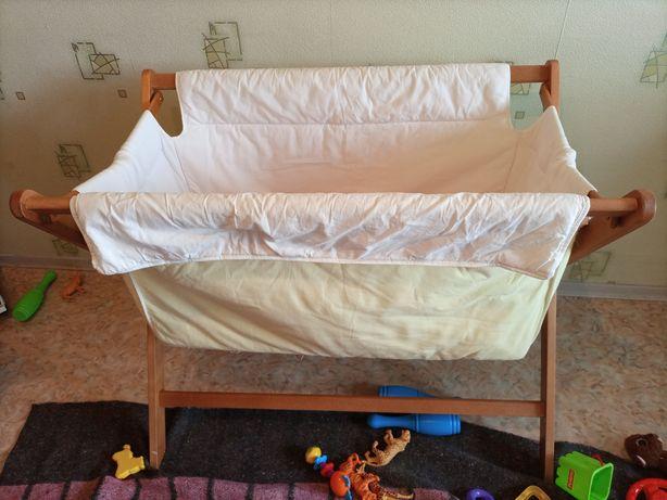 Детская кроватка качалка 1500рублей