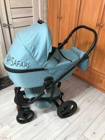 Детская коляска 2 В 1 MIKRUS SAFARI CROSS текстиль
