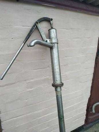 Ручной насос на скважину (фонтан) нержавеющая сталь рабочий