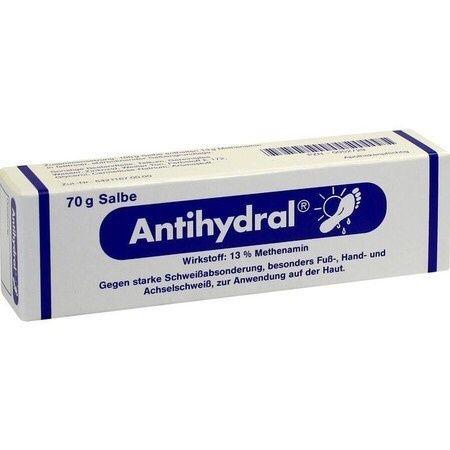 Pomada ANTIHYDRAL 70g (Para suor nas mãos e pés)
