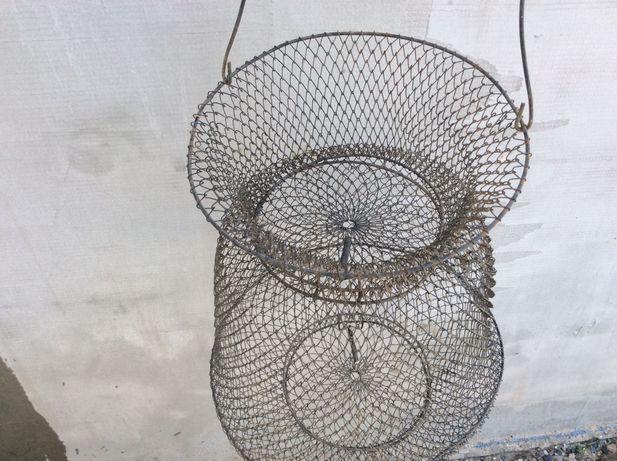 Корзина сумка сетка кошёлка складная металлическая для рыбы