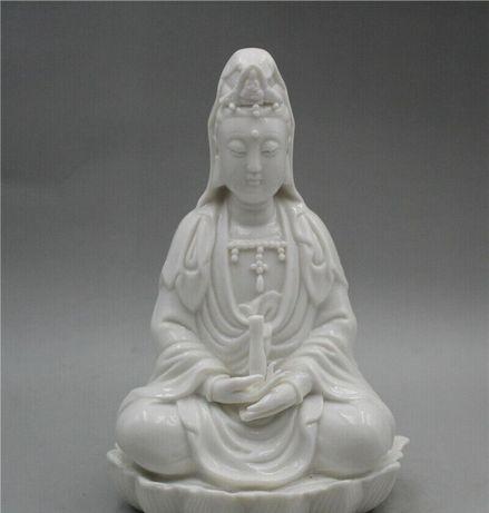 Peça em Porcelana Chinesa Kwanin 2 Simbologia Chinesa