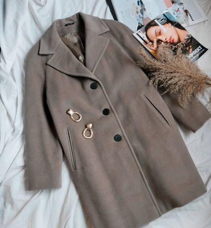 Шерстяное пальто оверсайз рр(м,л)