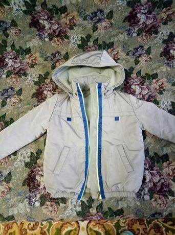 зимняя куртка для мальчика на 2-3 года