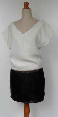 sukienka cekinowa bioło-czarna prosta klasyczna S