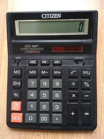 Калькулятор бухгалтерський настільний Citizen SDC-888T оригінал
