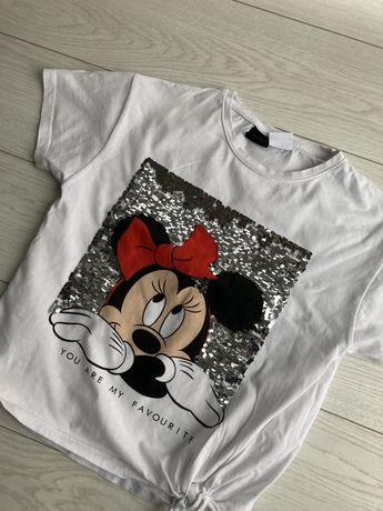 Koszulka t-shirt Zara 140 cekiny
