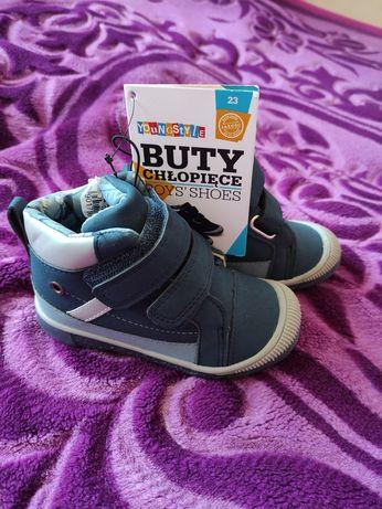 Buty buciki dla chłopca nowe na rzepy wiosenne