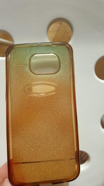 Etui Samsung S6 brokatowe