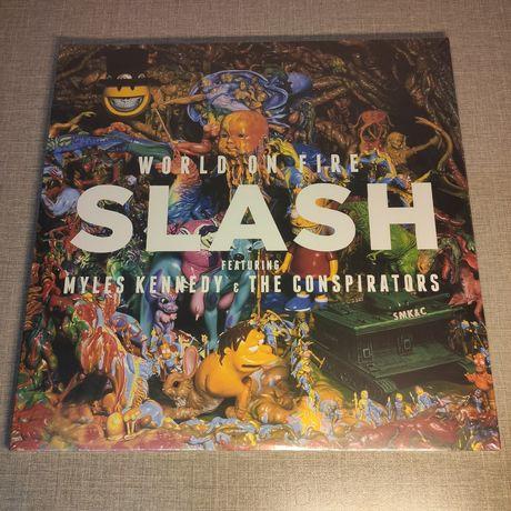 SLASH : World On Fire RED VINYL 2LP / Виниловая пластинка / VL / Винил