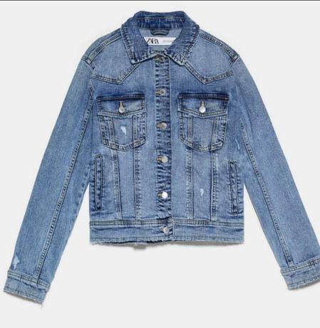 Джинсовый пиджак Zara Xs новый с бирками