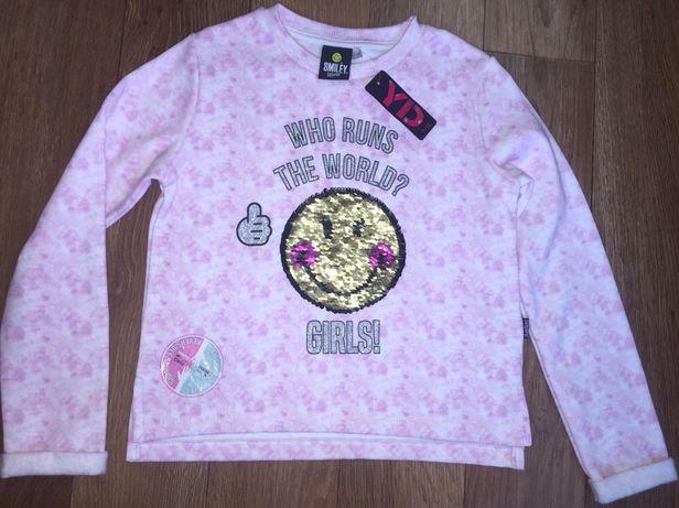 Кофта для девочки, свитер, трикотаж, джемпер,рост 128 см