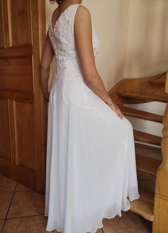 Sukienka ecru z koronką, ślub, wesele, poprawiny