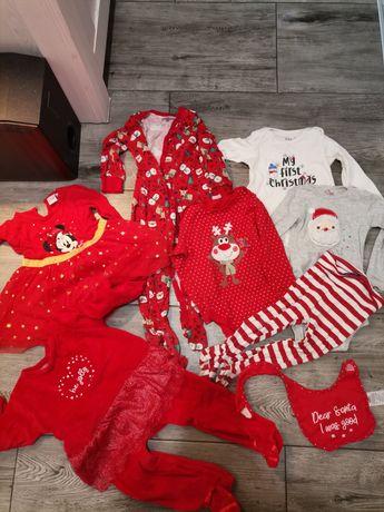 Zestaw świątecznych ciuszków dla rocznej dziewczynki