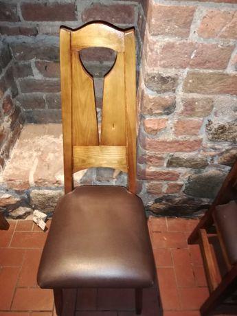 Krzesła, stoły z drewna sosnowego sprzedam